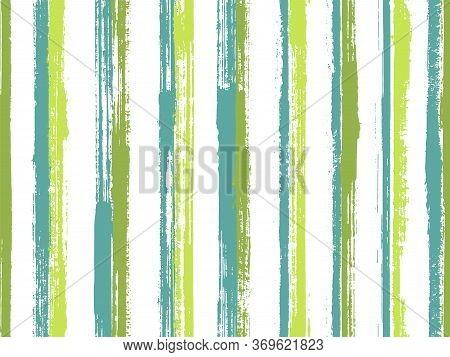 Pain Brush Stroke Grunge Stripes Vector Seamless Pattern. Funky Linen Fabric Print Design. Scratchy