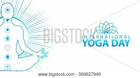 21 June-international Yoga Day,yoga Body Posture, Vector Illustration - Vector