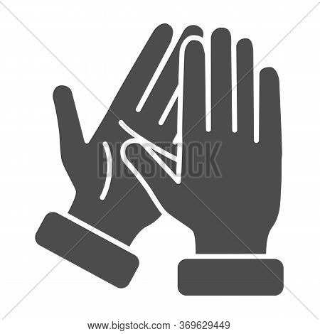 Applause Solid Icon, Gestures Concept, Bravo Sign On White Background, Hands Clapping Symbol In Glyp