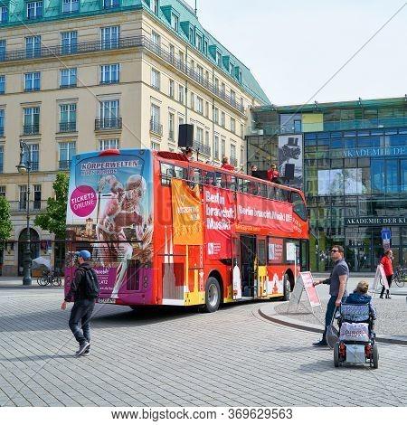 Berlin, Germany - May 30, 2020: Corona Concert In Berlin Under The Motto