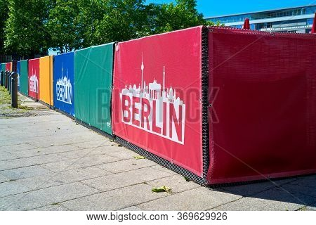 Berlin, Germany - May 31, 2020: Barriers To Defence Against Terror At Breitscheidplatz In The Centre