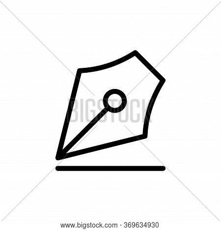 Fountain Pen Icon Vector In Trendy Flat Style Design. Vector Illustration On White Background