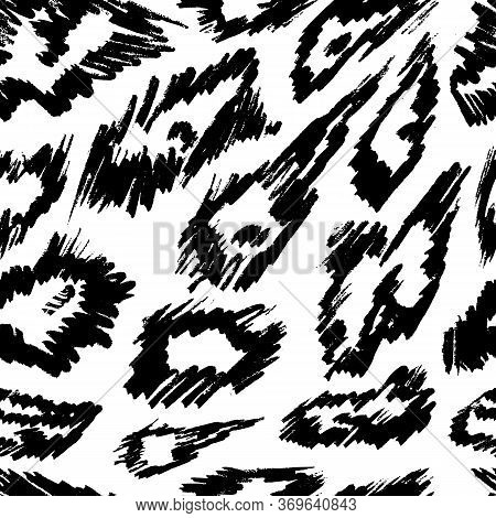 Animal Seamless Pattern. Mammals Fur. Print Skin. Predator Camouflage. Leopard Cheetah Jaguar. Print