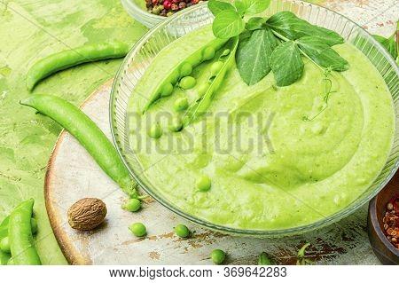 Pea Vegetarian Soup