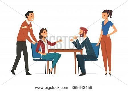 Business Negotiations, Business Partners Meeting, Exchanging Information, Solving Problems, Producti