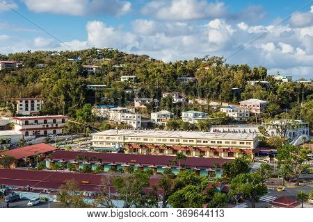 Charlotte Amalie, St. Thomas, United States V, Islands (usvi) - April 30, 2019: View Of The Shopping