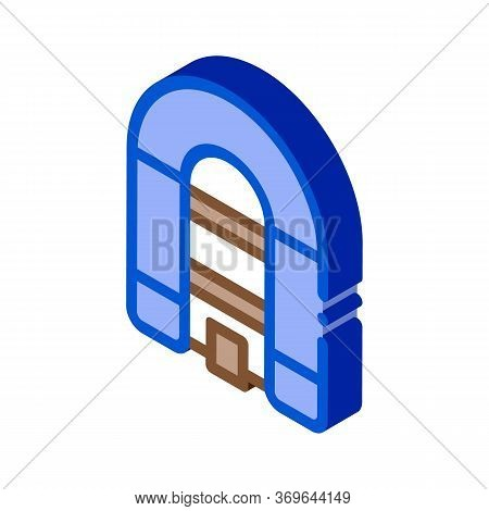 Inflatable Spacious Boat Icon Vector. Isometric Inflatable Spacious Boat Sign. Color Isolated Symbol