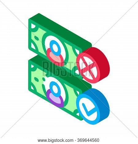 Money Currency Comparisons Icon Vector. Isometric Money Currency Comparisons Sign. Color Isolated Sy