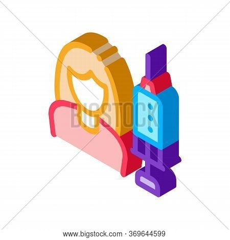 Injections For Women Rejuvenation Icon Vector. Isometric Injections For Women Rejuvenation Sign. Col