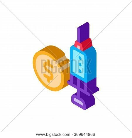 Expensive Medical Injection Icon Vector. Isometric Expensive Medical Injection Sign. Color Isolated