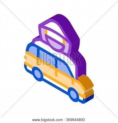 Car Driver Logo Icon Vector. Isometric Car Driver Logo Sign. Color Isolated Symbol Illustration