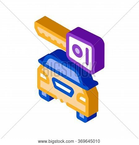 Machine Wash From Hoses Icon Vector. Isometric Machine Wash From Hoses Sign. Color Isolated Symbol I