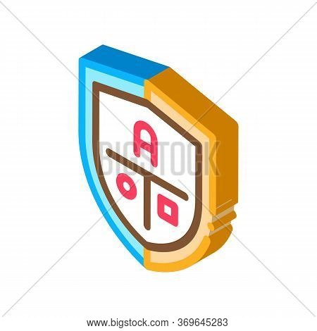 Academy Emblem Logo Icon Vector. Isometric Academy Emblem Logo Sign. Color Isolated Symbol Illustrat