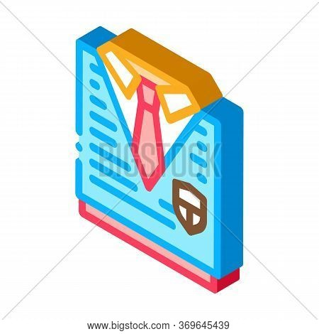 Academy Uniform Concept Icon Vector. Isometric Academy Uniform Concept Sign. Color Isolated Symbol I