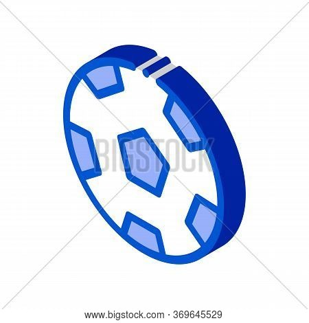 Football Playing Ball Icon Vector. Isometric Football Playing Ball Sign. Color Isolated Symbol Illus