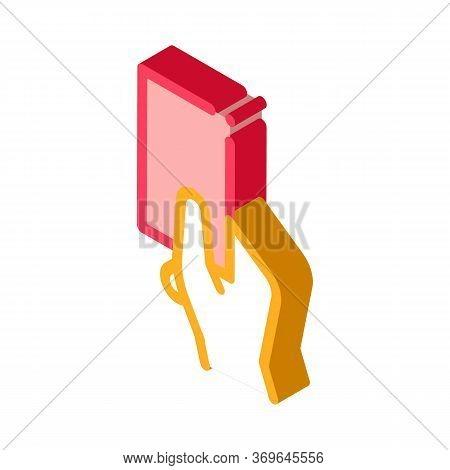 Arbitrator Show Card Card Icon Vector. Isometric Arbitrator Show Card Sign. Color Isolated Symbol Il