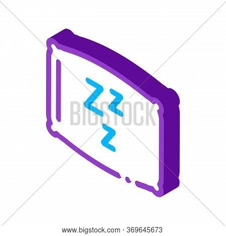 Cozy Pillow For Sleeping Icon Vector. Isometric Cozy Pillow For Sleeping Sign. Color Isolated Symbol
