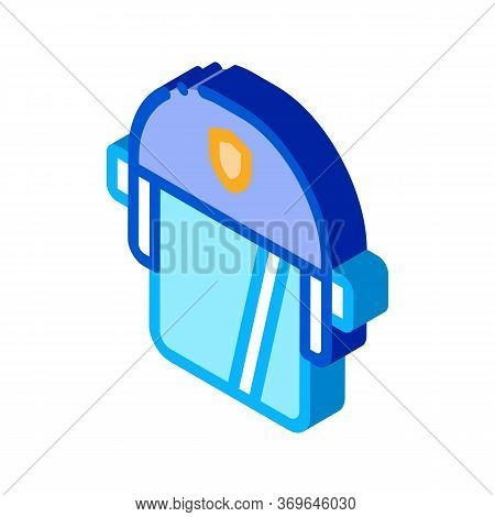 Policeman Swap Helmet Icon Vector. Isometric Policeman Swap Helmet Sign. Color Isolated Symbol Illus