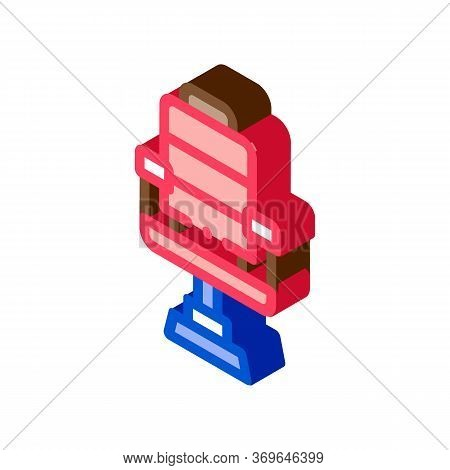 Barber Shop Armchair Icon Vector. Isometric Barber Shop Armchair Sign. Color Isolated Symbol Illustr