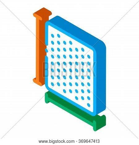 Mattress Width Length Icon Vector. Isometric Mattress Width Length Sign. Color Isolated Symbol Illus