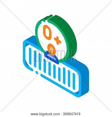 Soft Orthopedic Mattress Icon Vector. Isometric Soft Orthopedic Mattress Sign. Color Isolated Symbol