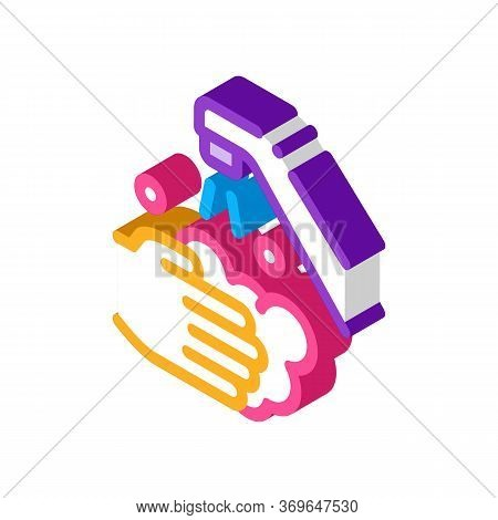 Hands Wash Water Faucet Icon Vector. Isometric Hands Wash Water Faucet Sign. Color Isolated Symbol I