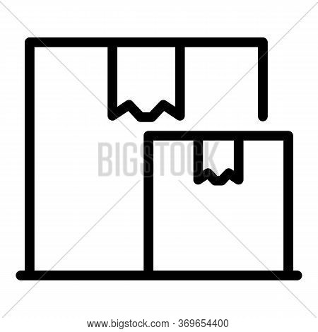 Carton Parcel Box Icon. Outline Carton Parcel Box Vector Icon For Web Design Isolated On White Backg