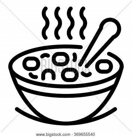 Hot Wheat Flakes Icon. Outline Hot Wheat Flakes Vector Icon For Web Design Isolated On White Backgro