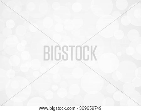 White Defocused Light Background. Flickering Lights. Abstract Festive Background With Bokeh. Vector