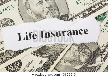 Headline of Life Insurance for background use poster