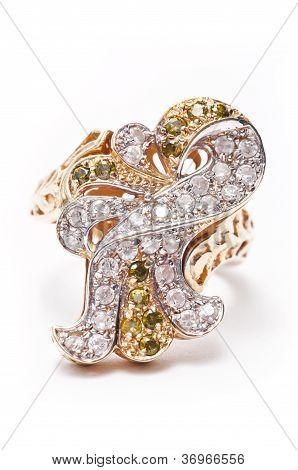 Golden Jewel Ring