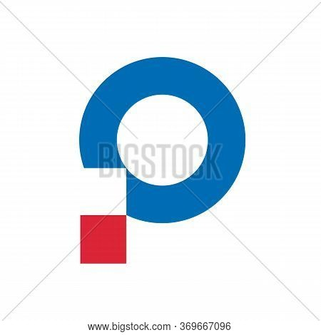 Abstract Initial P Logo Template, Digital Letter P Icon Design
