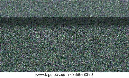 Horizontal Distortion Of Broken Video Image On Black Background, Vhs Effect, Glitch Digital Color Pi