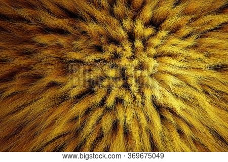 3d Render Of Shaggy Carpet With Wool Material For Backgrounds Texture, Close Up Of Soft Attractive Y