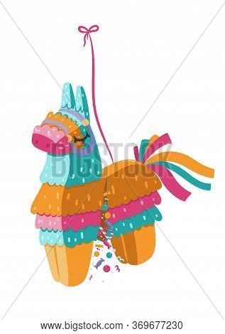 Pinata Isolated On A White Background. Vector Image