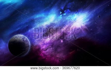 Abstract Space 3d Illustration, 3d Image, 3d Rendering, Background Image, A Bright Planet In Space I