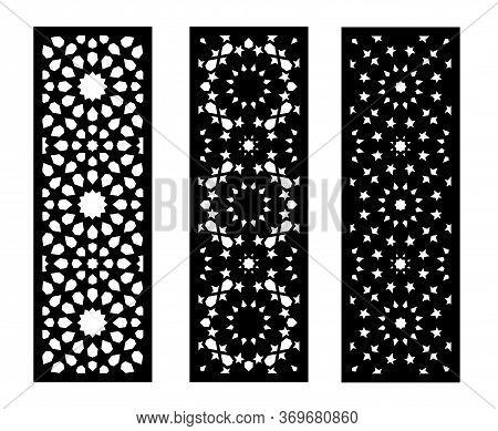 Modern Lazer Cut Vector Panel, Screen, Fence, Divider. Cnc Decorative Pattern, Jali Design, Interior