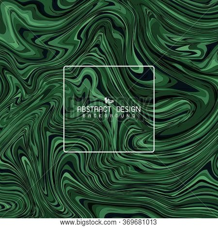 Abstract Green Marble Artwork Deign Of Cover Decoration Background. Decorate For Ad, Poster, Artwork