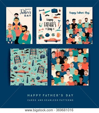 Happy Fathers Day. Vector Templates. Design Element