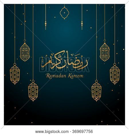 Ramadhan Kareem Background. Suitable For Poster, Brochure, Flyer, Promo, Wallpaper. Muslim Holiday.