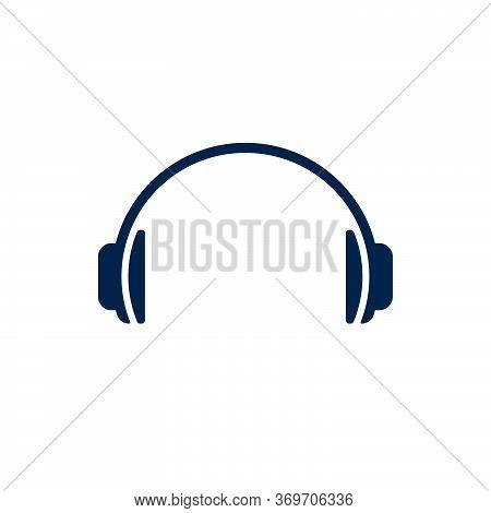 Headphones On White Background. Flat Vector Headphones Design.