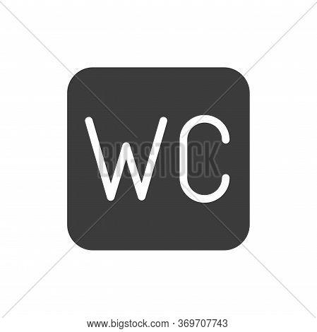 Wc Black Glyph Icon. Unisex Restroom. Public Navigation. Pictogram For Web Page, Mobile App, Promo.