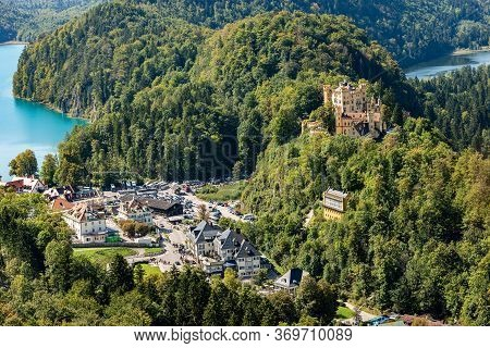 Hohenschwangau Castle (schloss Hohenschwangau - Upper Swan County Palace Xix Century) With The Schwa
