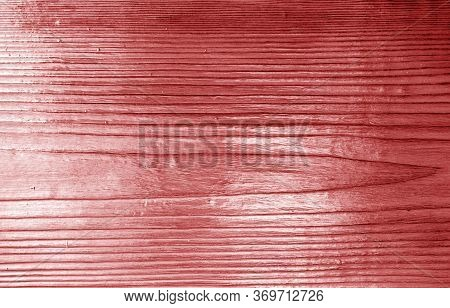 Wooden Board Texture With Blur Effect In Red Tone. Abstract Background And Texture For Design.