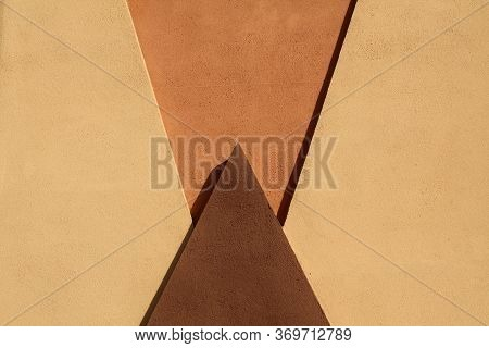 Plaster Wall Decor Elements Outdoors. Architectural Background