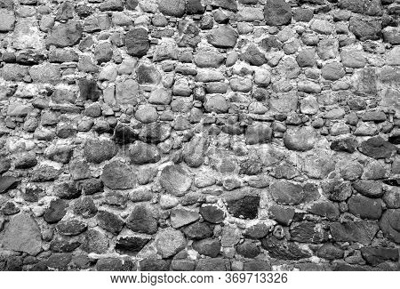 Old Stone Wall Texture. Architectural Background For Design And Ideas
