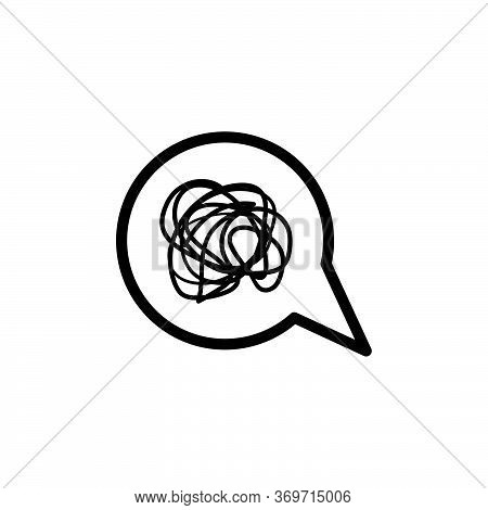 Bubble Chat Complicated Vector Design Template Illustration