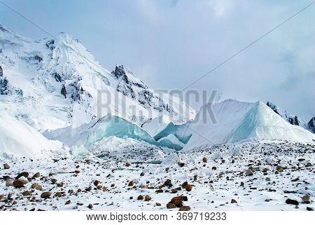 Winter Landscape With Glacier In Karakorum Mountains, Pakistan