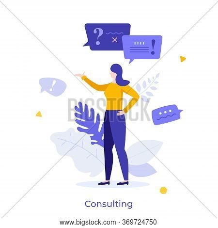 Consultant, Advisor Or Manager Answering Questions And Providing Information. Concept Of Consulting