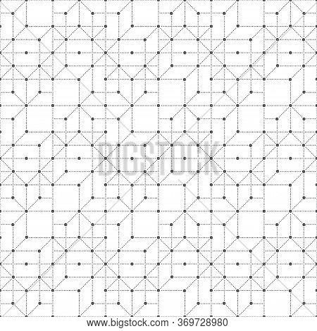 Vector Seamless Pattern. Modern Small Dotted Texture With Regularly Repeating Dotted Lines, Small Do